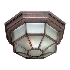 "Woodbridge Lighting 60006 Outdoor Flush Mount, 10.5""x4.75"", Powder Coat Rust"