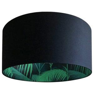 Silhouette Cotton Lampshade, Palm Jungle, 40x40x23cm