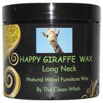 The Clean Witch - Happy Giraffe Wax- Long Neck- Natural Beeswax Furniture Polish - Wood furniture polish and protection wax.  A totally intoxicating heavenly light exotic floral scent derived entirely from premium essential oils. Did I hear someone say Ylang Ylang oil?  Yes,  I did.  This is the only furniture wax that is scented with the coveted Ylang Ylang oil.  A natural shine that protects the wood.  Goes on transparent so it can be used on chalk paint as well.  Always a smooth operation, no clumping. A little goes a long way