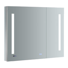 "Fresca Tiempo 36""x30"" Bathroom Medicine Cabinet With LED Lighting and Defogger"