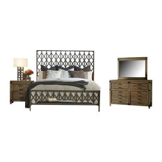 image cassic industrial bedroom furniture. Legacy Classic - Metalworks Bedroom Set With King Bed Furniture Sets Image Cassic Industrial M