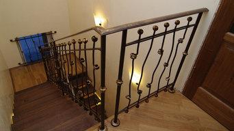Лестницы с кованым ограждением