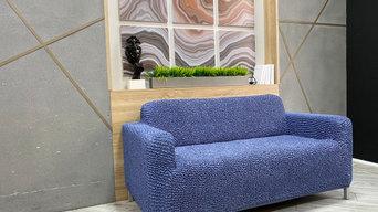 Blue Loveseat 2 Seater Slipcover | Microfibra Collection | Interior design