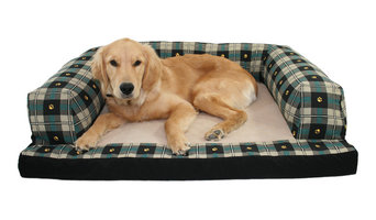 Baxter Couch Dog Bed Prints - Paw Plaid