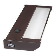 """120V Dimmable LED Under Cabinet Metal Light Bar, AQUC, Bronze, 12"""""""