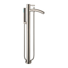 Taron Modern-Style Bathroom Tub Filler, Brushed Nickel