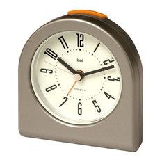 BAI DESIGN INC. - Designer Pick-Me-Up Alarm Clock, Gunmetal - Alarm Clocks