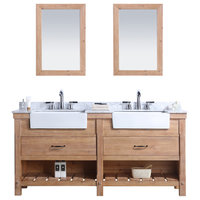 "Marina 72"" Bathroom Vanity, Driftwood Finish"