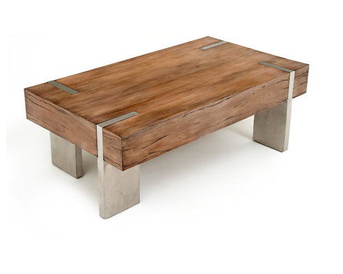 modern rustic block coffee table tables contemporary furniture n