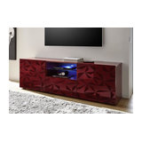 Prisma (red) 2 door 1 drawer TV unit