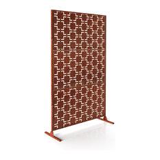 Alta Corten Steel Decorative Screen With Stand, Quadra