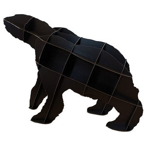 Ibride Bear Bookcase Joe, Black