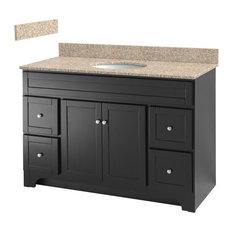 "Foremost - Worthington Espresso Vanity, Mohave Beige Granite Top, 48"" - Bathroom Vanities and Sink Consoles"