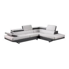 Global Furniture USA - Global Furniture Sectional, Gray & Dark Gray - Sectional Sofas