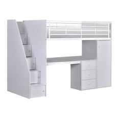 Dakota Single Mid Sleeper Bed With Workstation