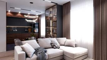 Проект трехкомнатной квартиры в Современном стиле