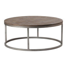 Gabby Gabby Colby Parquet Wood Round Coffee Table Coffee Tables