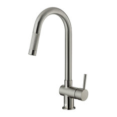 VIGO Industries   VIGO Pull Out Kitchen Faucet, Stainless Steel, Without  Extras