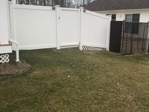 corner gardenhiding fence gap