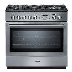 Rangemaster 86440 Excel 110 Dual Fuel Range Cooker in Stainless Steel/Chrome