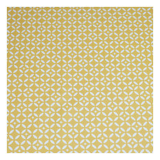 Mustard Yellow Mosaic Wipe-Clean Tablecloth, Round, 160x160 cm