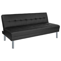 """Metropolitan 67"""" Black Futon Bed and Couch"""
