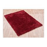 Diva Diva Red Rectangle Plain/Nearly Plain Rug 60x120cm
