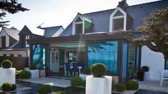 Véranda toiture plate moderne