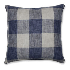 Pillow Perfect Indoor Check Please Lakeland Blue 25-inch Floor Pillow