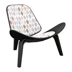 Nye Koncept Black Shell Chair, Rainy Traces