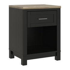 A Design Studio - Savannah Nightstand, Black - Nightstands and Bedside Tables