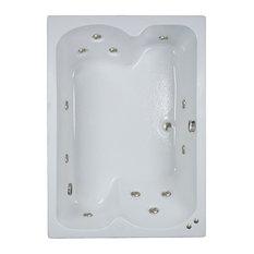 "60""L x 43""W White Whirlpool Bath"