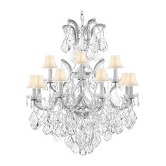 Swarovski Empress Cut Crystal Chandelier With Luxe Crystal