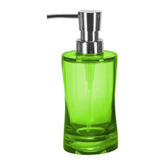 Colorful Modern Impact Resistant Liquid Soap Dispenser, 8.5oz, Green