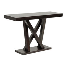 Baxton Studio Everdon Dark Brown Modern Sofa Table