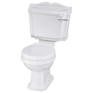 Traditional White Ceramic Toilet and Basin With 1 Tap Hole and Pedestal Design