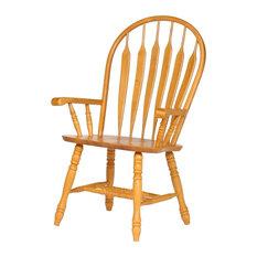 Comfort Dining Arm Chair, Light Oak