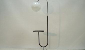 Vintage Bauhaus Bogenleuchte