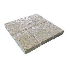 French Vanilla Cobbles Tumbled Limestone Tiles, 6x9, 40 Sq. ft.