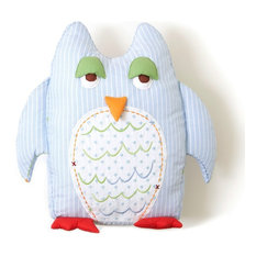 Blue Owl Shaped Toothfairy Pillow