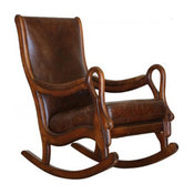 Distressed Leather Rocking Chair
