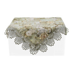 Fashionable Floral Print Microwave Oven Dustproof Cloths, Green