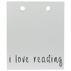 I Love Reading Magazine Rack, White