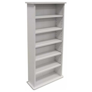 Modern Storage Organiser, White Finished Particle Board With 6 Open Shelves