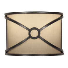 Masa W2 Steel and Fabric Wall Lamp