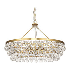 Robert Abbey Bling Large Chandelier, Antique Aged Brass