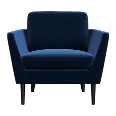 MOD - Jacinth Blue Velvet Armchair - Armchairs and Accent Chairs