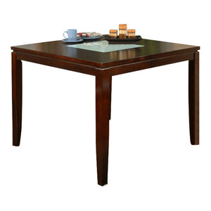 Homelegance Bayshore Square Pedestal Counter Height Table