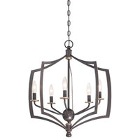 Middletown 5-Light Chandelier, Downton Bronze/Gold Highlights