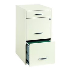 Hirsh Industries LLC   Hirsh Industries 3 Drawer Steel File Cabinet In  White   Filing Cabinets Amazing Ideas